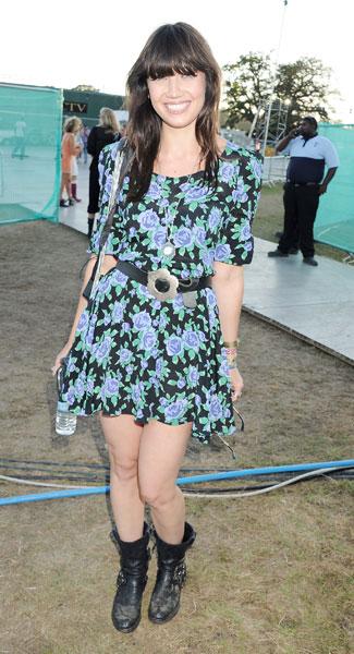 Daisy Lowe StyleChi Black Blue Green Half Sleeve Mini Floral Dress Flower Buckle Belt Biker Boots
