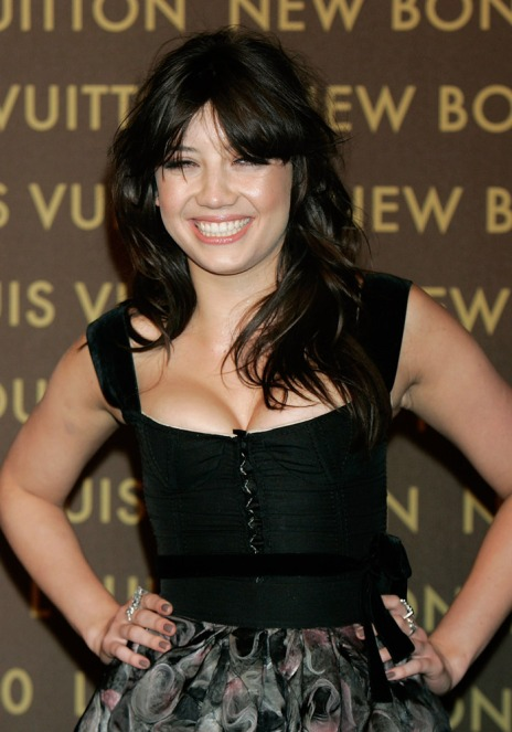 Daisy Lowe StyleChi Black Bustier Corset Ribbon Detail Square Decolletage High Waisted Patterned Skirt