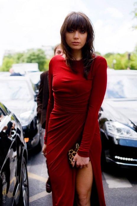 Daisy Lowe StyleChi Long Sleeved Side Knot Crew Neck Split Dress Leopard Print Clutch