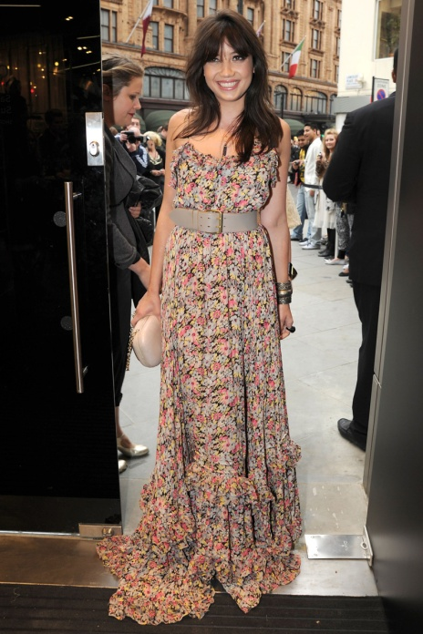 Daisy Lowe StyleChi Paris Floral Belted Maxi Dress