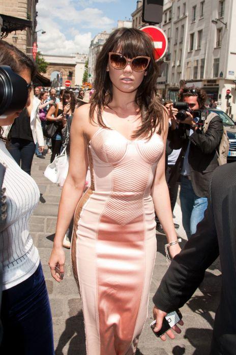Daisy Lowe StyleChi Pink Cone Shape Bustier Dress Retro Sunglasses