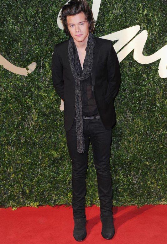 Harry Styles British Fashion Awards 2013 StyleChi