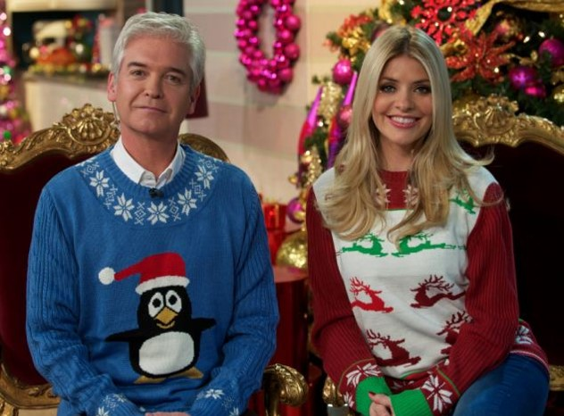 Holly Willoughby and Phillip Schofield Christmas Sweaters StyleChi
