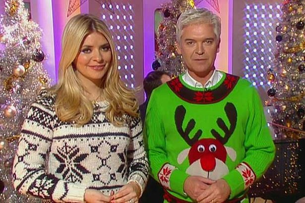 Holly Willoughby and Phillip Schofield StyleChi Christmas Sweaters
