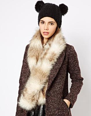 New Look Faux Fur Scarf StyleChi