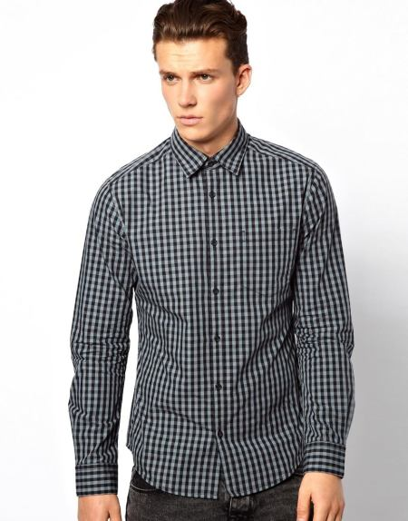 Esprit Shirt With Gingham Check Style Chi