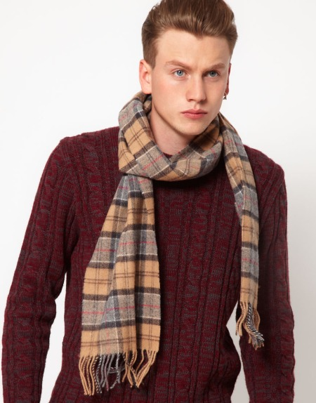 Barbour Tartan Lambswool Scarf Style Chi