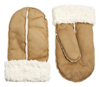New Look Shearling Mittens StyleChi