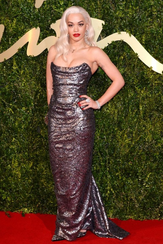 Rita Ora 2013 British Fashion Awards Vivienne Westwood StyleChi