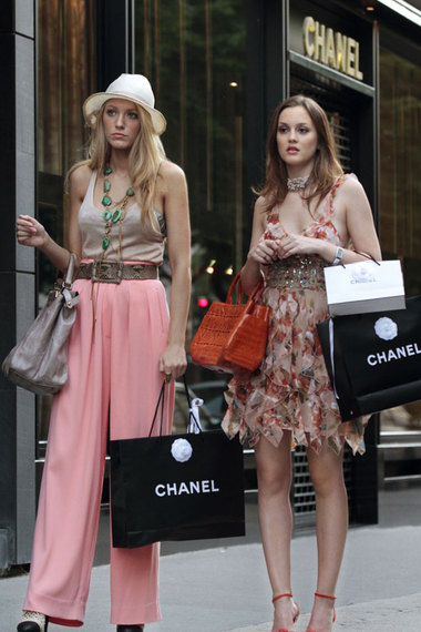 Leighton Meester Blair Waldorf StyleChi Floral Ruffle Floaty Embellished Dress