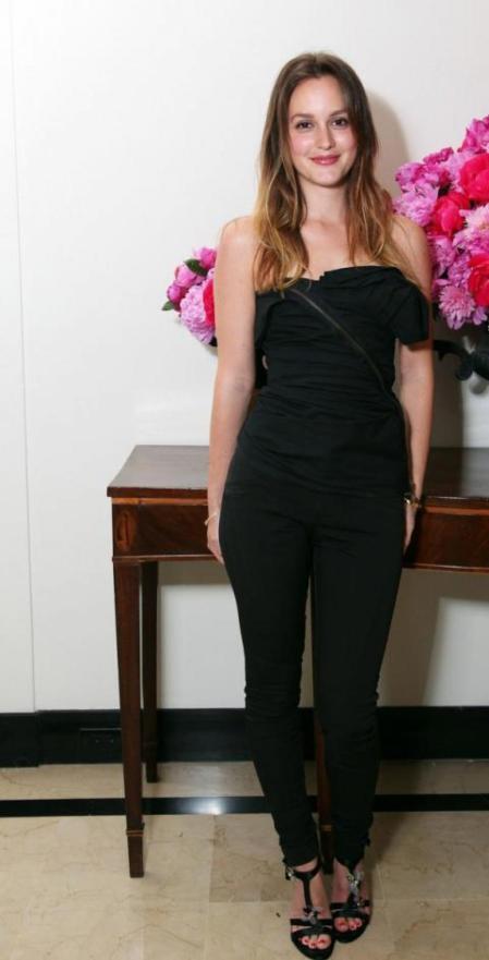Leighton Meester StyleChi Black Strapless Jumpsuit