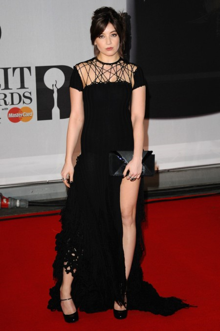 Brit Awards 2014 Best Looks StyleChi Daisy Lowe Black Dress