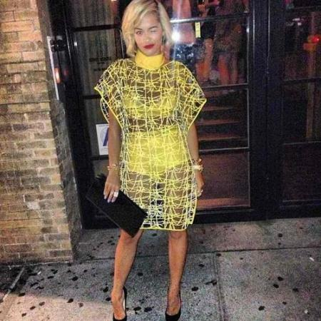 Rita-Ora-StyleChi -Vionnet-Resort-2014-Yellow-Sheer-Dress