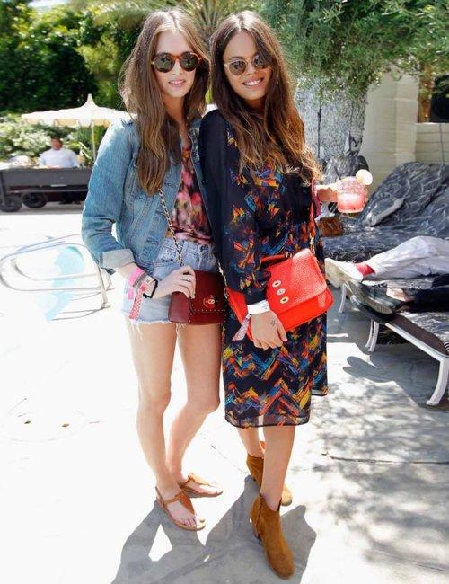 Atlanta-De-Cadenet-Taylor-Best-Looks-StyleChi-Boho-Chic-Patterned-Midi-Floating-Dress-Red-Bag-Beige-Suede-Ankle-Boots-Sunglasses