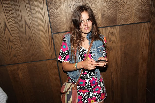 Atlanta-De-Cadenet-Taylor-Best-Looks-StyleChi-Denim-Gilet-Patterned-Bag-Floral-Dress-Party