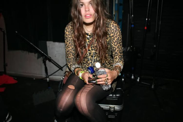 Atlanta-De-Cadenet-Taylor-Best-Looks-StyleChi-Leopard-Print-Dress-Ladder-Ripped-Tights-Party
