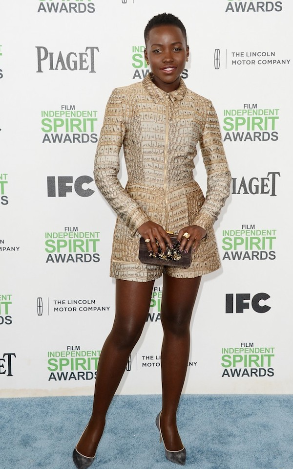 Lupita Nyong'O Red Carpet Best Looks StyleChi Stella McCartney Long Sleeve Short Jumpsuit