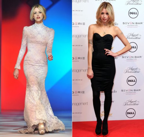 Peaches-Geldof-StyleChi-Best-Looks-White-Lace-Long-Sleeve-Victorian-Lace-Catwalk-Black-Sleeveless-Bodycon Dress