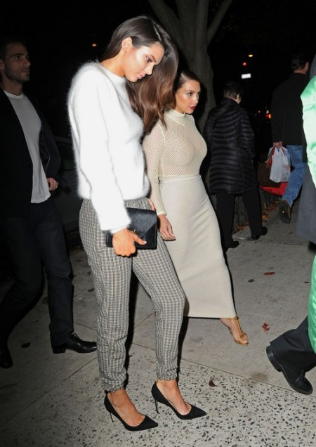Kim Kardashian Out With Her Sister Kendall In New York City