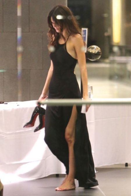 Kendall-Jenner-Style-StyleChi-Best-Looks-Kylie-Birthday-Split-Black-Maxi-Dress-Studded-Heels