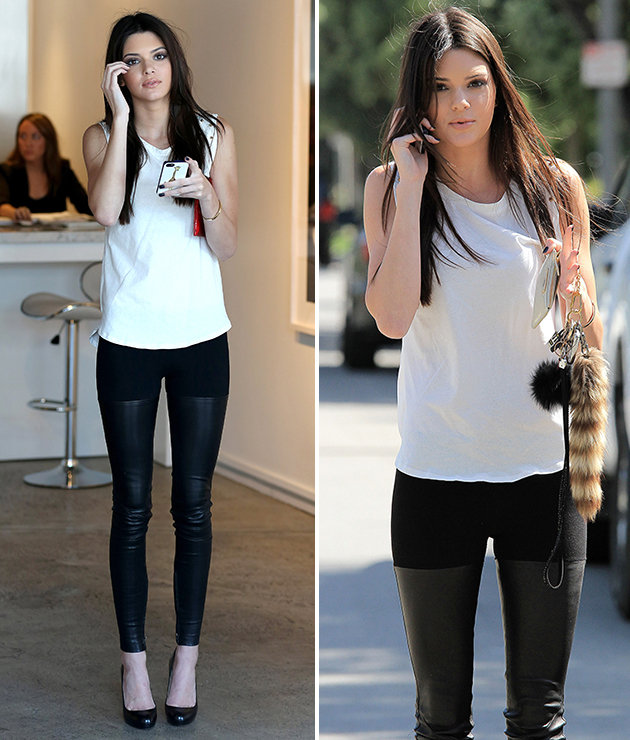 Kendall-Jenner-Style-StyleChi-Best-Looks-White-Sleeveless-Top-Half-Leather-Skinny-Jeans
