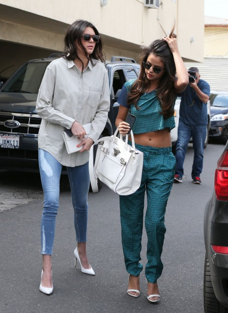 Kendall Jenner & Selena Gomez Meet For Lunch