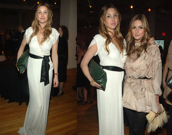 Whitney-Port-Style-Best-Outfits-StyleChi-Green-Croc-Oversize-Clutch-White-Maxi-Wrap-Dress-Black-Bow-Belt