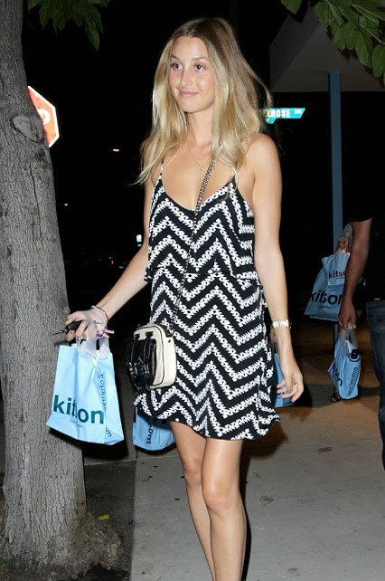 Whitney-Port-Style-Best-Outfits-StyleChi-Summer-Dress-Cami-Black-White-Zig-Zag
