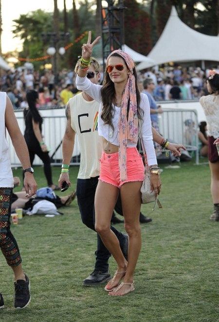 ALESSANDRA AMBROSIO at Coachella Festival