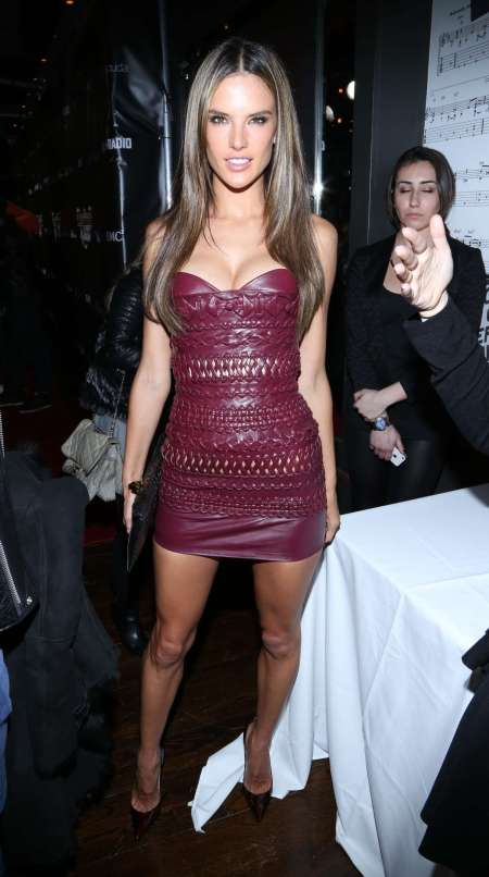 Alessandra-Ambrosio-Best-Outfits-Style-StyleChi-Leather-And-Laces-Party-Burgundy-Leather-Bustier-Mini-Dress