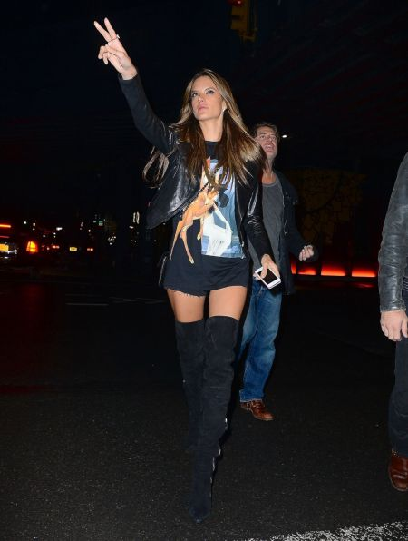 Alessandra-Ambrosio-Best-Outfits-Style-StyleChi-Thigh-Highs-Bambi-T-Shirt-Leather-Jacket