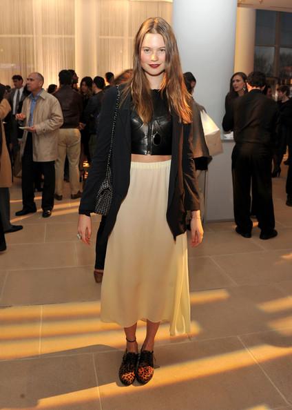 StyleChi-Behati-Prinsloo-Street-Style-Best-Looks-Victoria's-Secret-Angel-Black-Leather-Crop-Top-White-Midi-Skirt-Leopard-Brogues